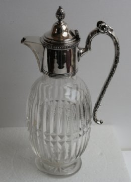 Glass & Silver Plated Claret Jug