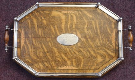 Oak Tray with Silver Plated Gallery