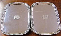 Pair of Silver Trays