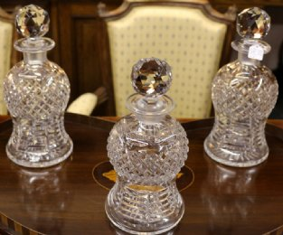 Set of 3 Webb Corbet Decanters