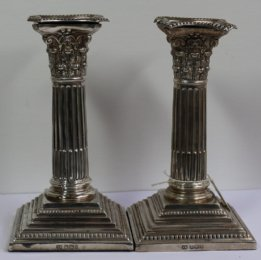 Silver Candlesticks - SOLD