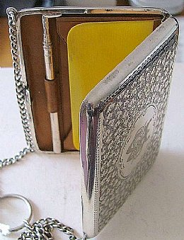 Silver Card Case & Notebook