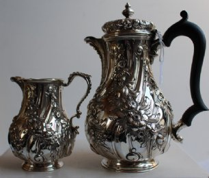 Silver Coffee Pot & Jug