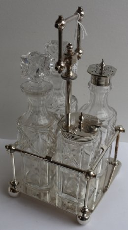 Silver Plated Art Deco Cruet Set