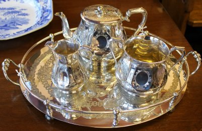 Silver Plated Tea Service & Tray
