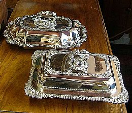 Silver Plated Victorian Entree Dishes