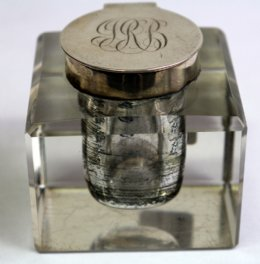Silver Top Inkwell - SOLD