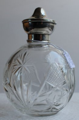 Silver Top Perfume Bottle