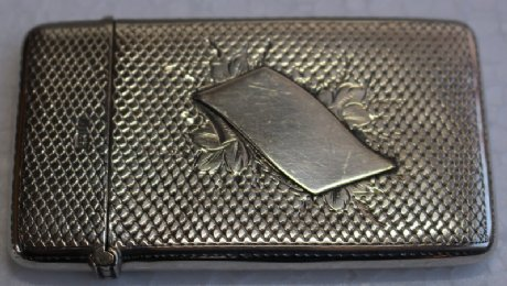 Small Silver Card Case