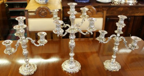 Suite of Victorian Silver Candelabras - SOLD