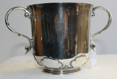 Two Handled Silver Mug