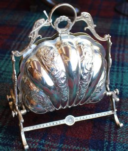 Victorian Silver Plated Muffin Dish